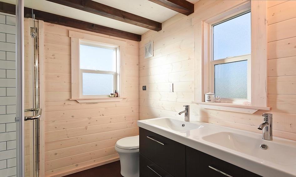 Custom Tiny House on Wheels with Dual Sink Bathroom