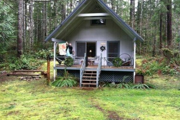 Small cute cabin in hoodsport wa for sale for Tiny house zillow
