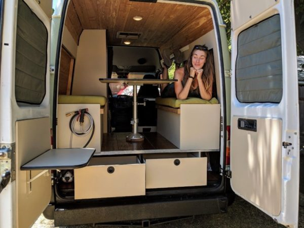 Diesel Sprinter Conversion with High Roof and Rhino Liner