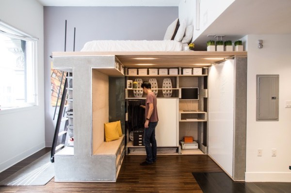 Domino Loft Multifunctional Tiny Apartment by ICOSA and Peter Suen 006
