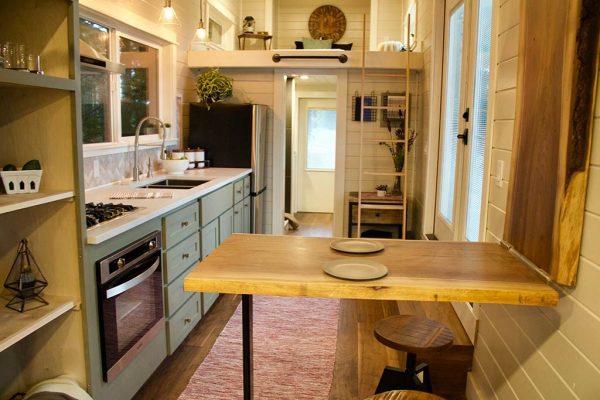 Double Loft Luxury Big Outdoors Tiny House by Tiny Heirloom 002
