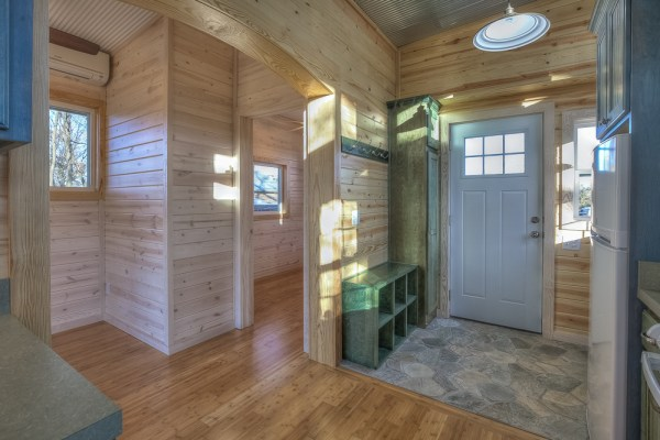 Double Wide Container Home With Rustic Interior