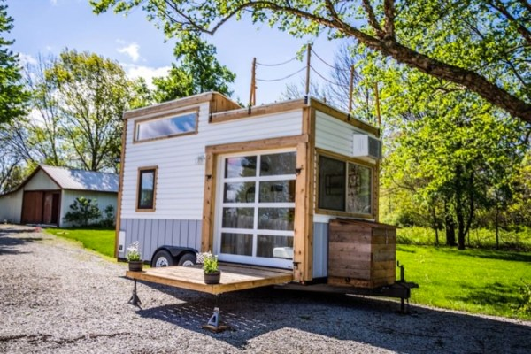 tiny house with garage. Double Decker Tiny House With Awesome Garage Door/Window In Zionsville, Indiana D