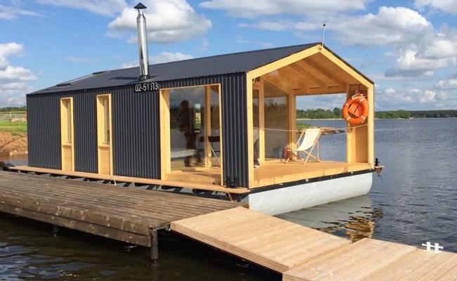 280 Sq Ft Modern Houseboat Cabin