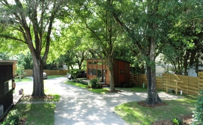 Tiny Houses With Lots Escape Tampa Bay Village Units On