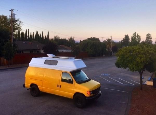 Evan's DIY Conversion Van Tiny Home 001