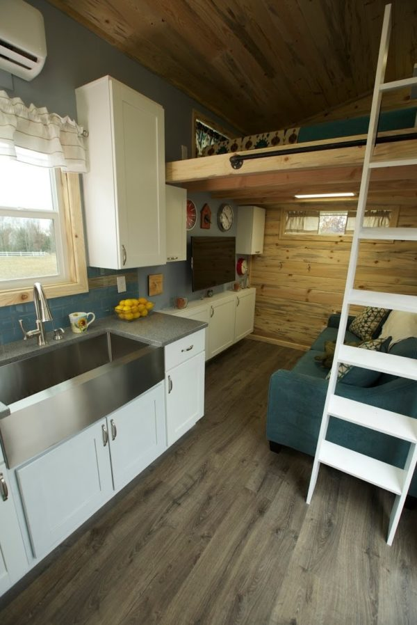 Family of Fours Double Loft Tiny Home on Wheels