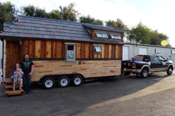 Family of Three's Adventure Tiny House on Wheels 001