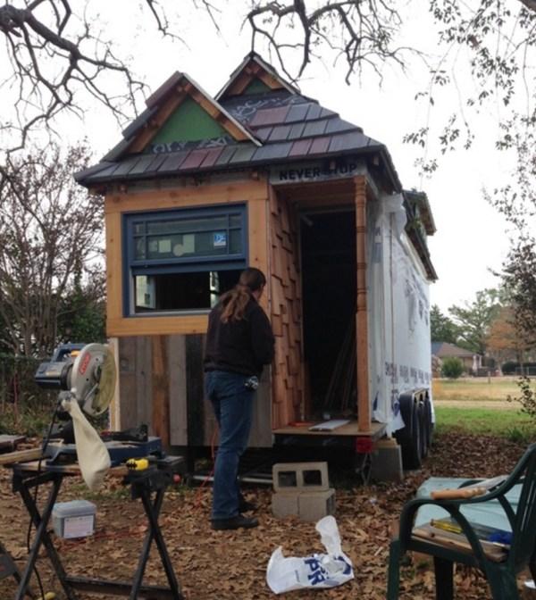 Family of Three's Adventure Tiny House on Wheels 0030