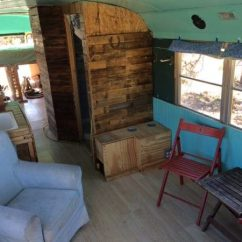 Kitchen Table Chairs Set Scrub Brush Family's $10k Converted Skoolie For Sale, Santa Fe (sold)