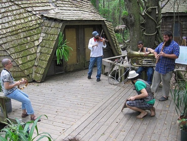 Geodesic Domes at Hostel Forest 002