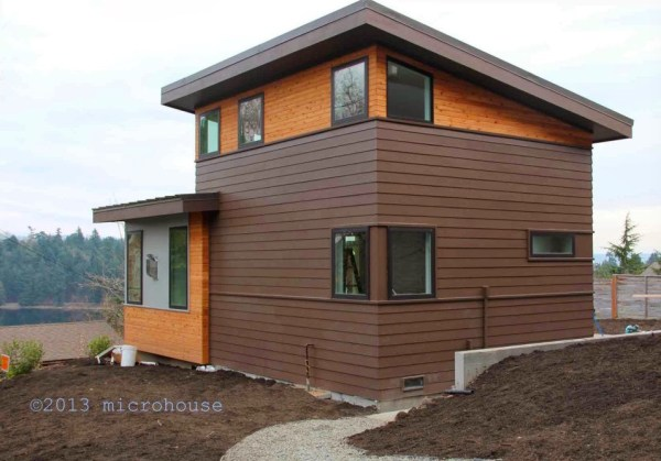 Another View of this Modern Tiny ADU Cottage from the Outside