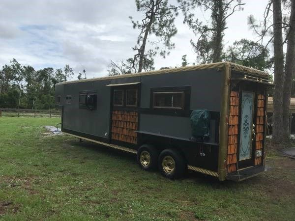 Horse Trailer Converted into a Tiny Home