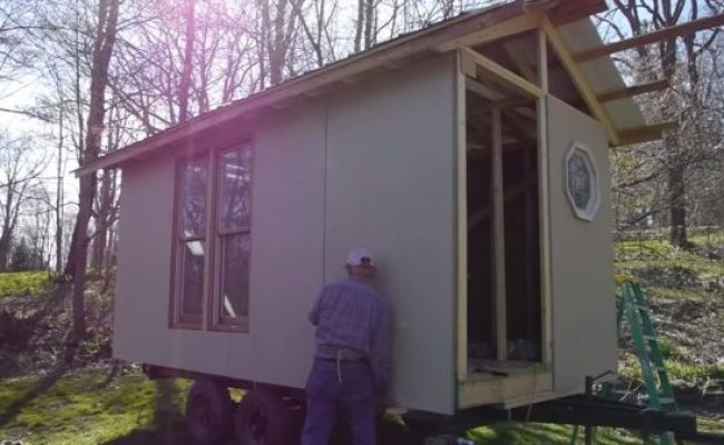 How He Built A Tiny House From The Ground Up Start To Finish
