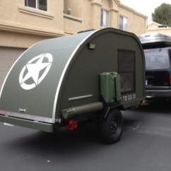 Kitchen Vent Fan Corner Booth Seating Man Builds $2k Military Style Teardrop Trailer