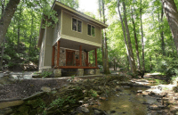 Jasper, Georgia Creekside Woodland Cabin For Sale