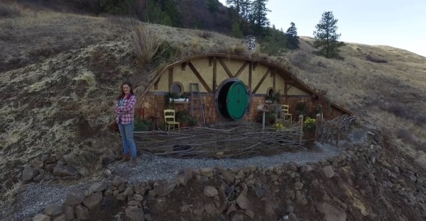 Woman Building Tiny Hobbitstyle Homes in Chelan WA