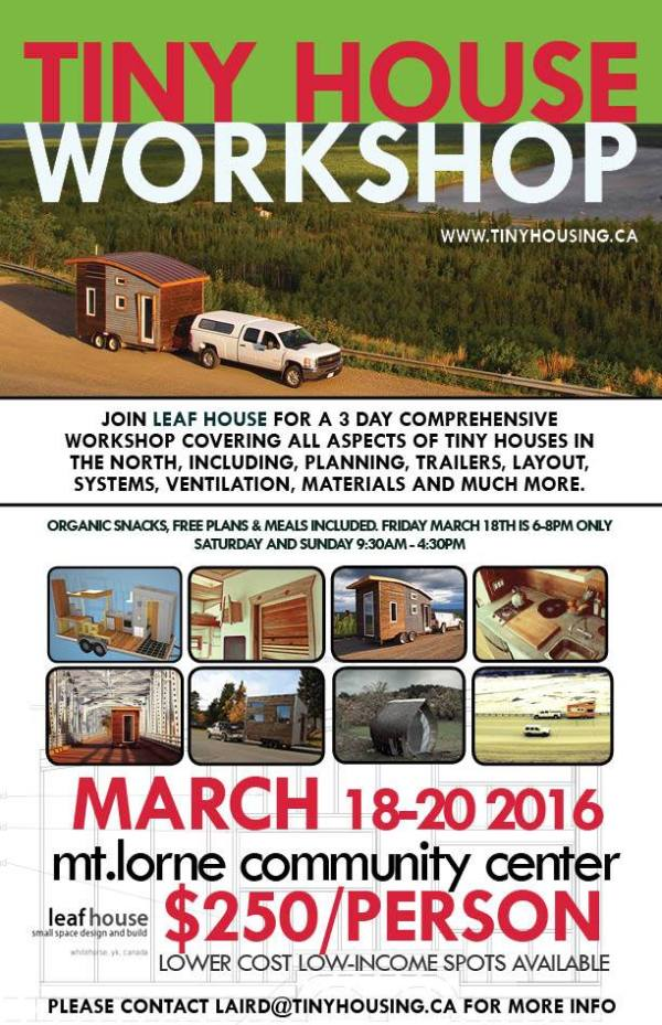 The leaf house tiny house workshop yukon for Leaf house tiny house