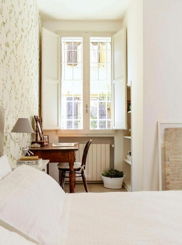 Bedroom with Corner Office Nook