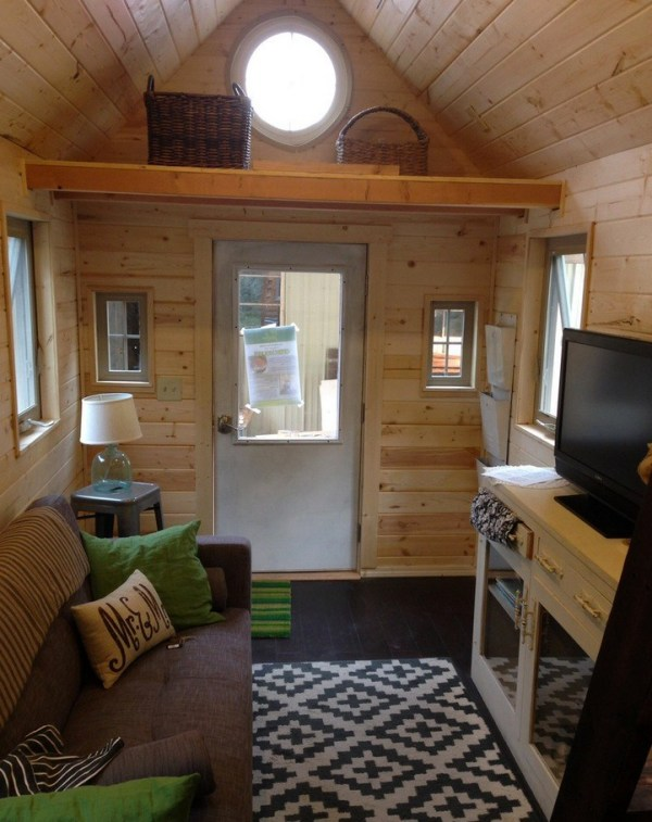 Interior of the First Little Foot Tiny Home