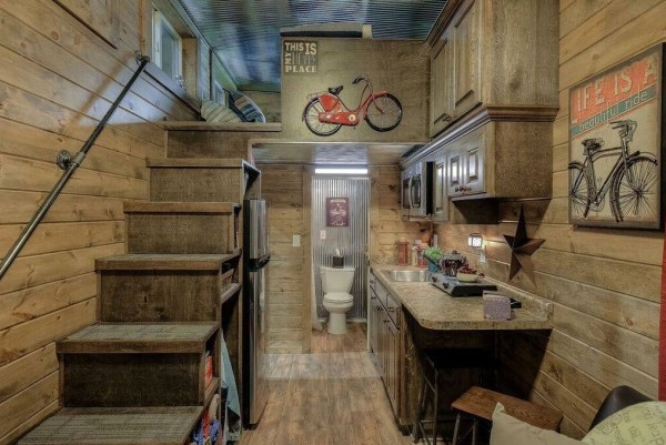 Log Cabin Shipping Container Tiny Home 001