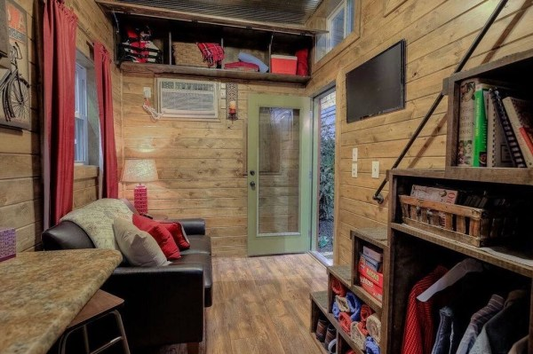 Log Cabin Shipping Container Tiny Home 003