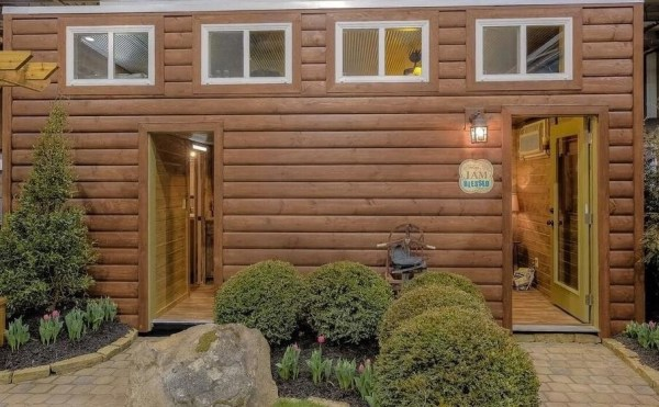 Log Cabin Shipping Container Tiny Home 006