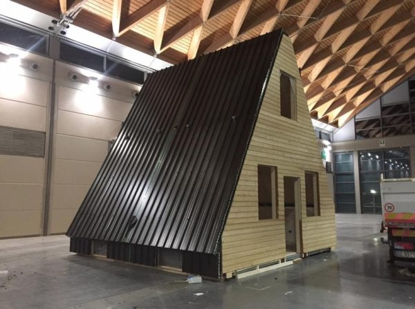 Foldable Prefab Aframe Cabin by MADI in Italy