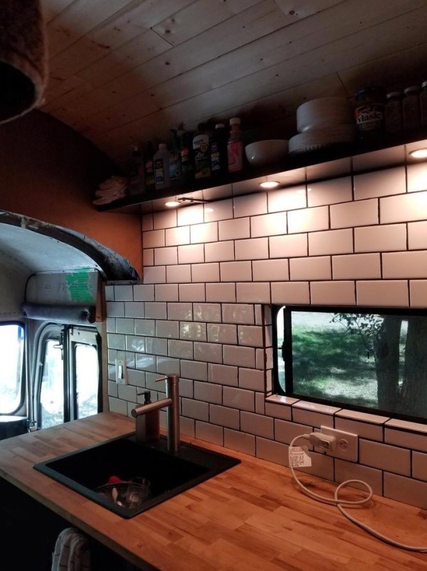 Man Buys School Bus and Turns it into Amazing Tiny Home