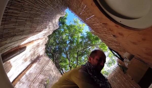 Man Simplifies into Off-Grid Micro Cabin Life in California 0017
