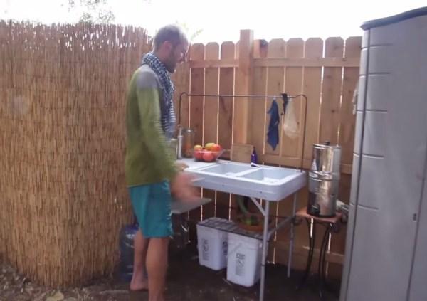 Man Simplifies into Off-Grid Micro Cabin Life in California 007