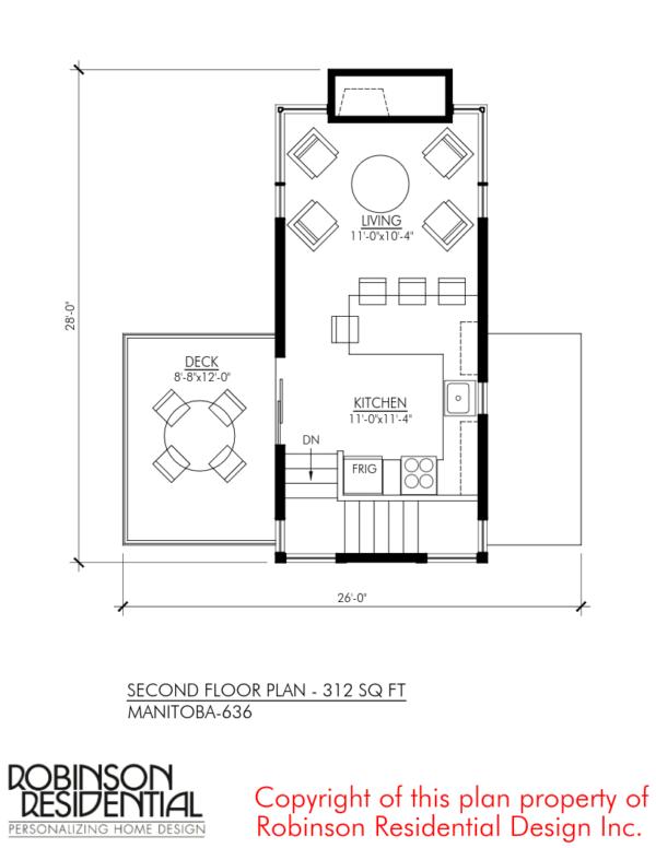 Manitoba 636 sq. ft. Floor Plan/Designs