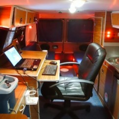Kitchen To Go Cabinets Sink Refinishing Man's Diy Stealth Camper Van With A Mobile Office Inside