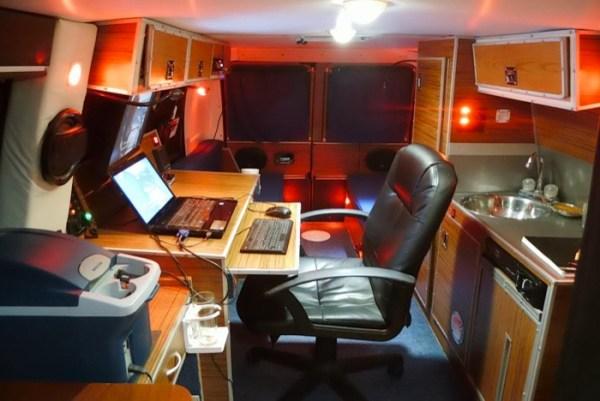 Mans DIY Micro Office and Camper Van 0012