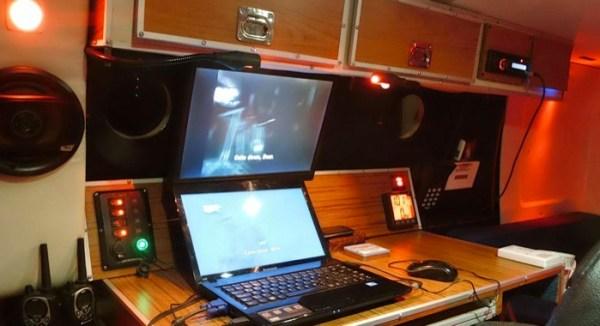 Mans DIY Micro Office and Camper Van 002