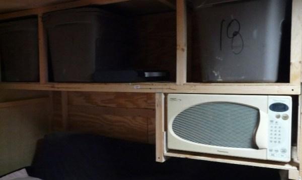 Mans DIY Stealth Cargo Trailer Tiny House 0010