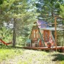 Micro A Frame Cabin Off Grid Glamping Vacation In Montana