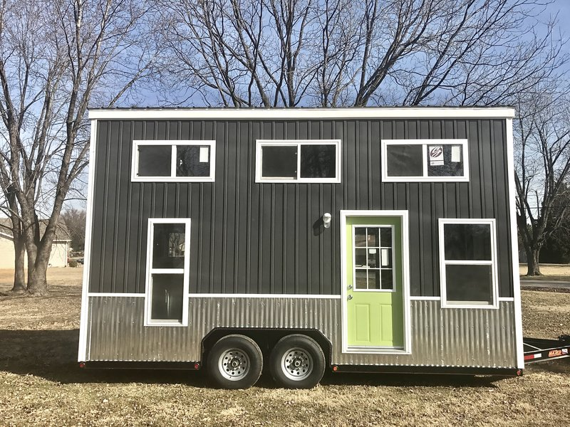 Mini mansion chic shack lime green thow for Mini mansion homes