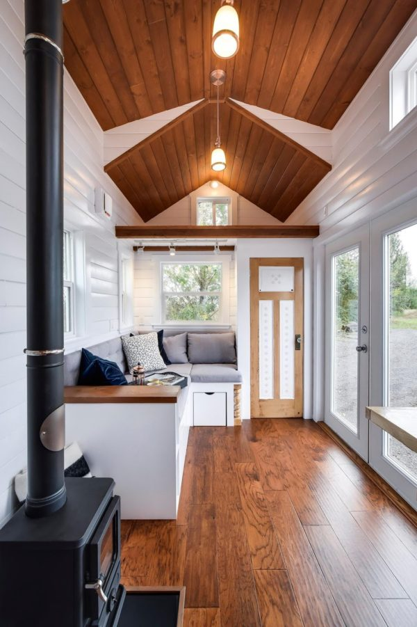 Beautiful 30 Mint Tiny Home on Wheels with Vaulted Ceilings