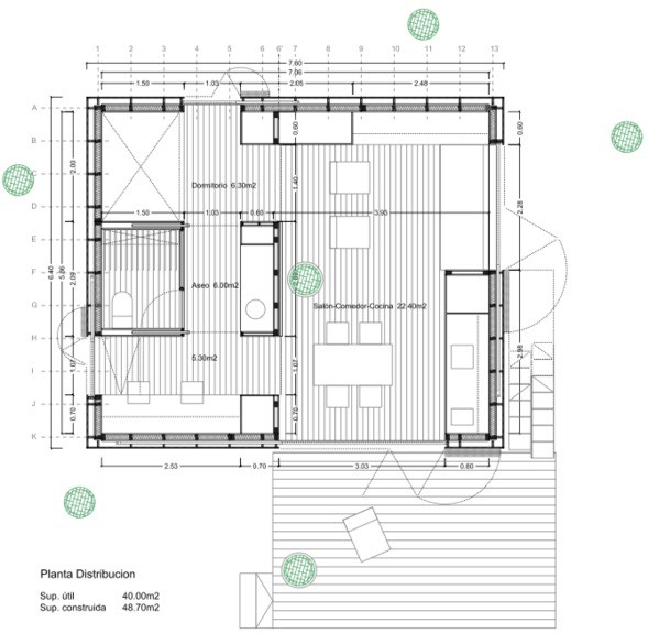 538 sq ft modern tiny cabin for Prototype house plan