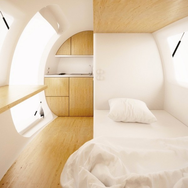 Modern Off Grid Tiny House Powered by Solar and Wind Ecocapsule by Nice Architects