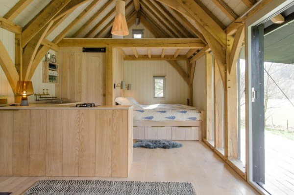 Modern And Minimalist Tiny Oak Cabin