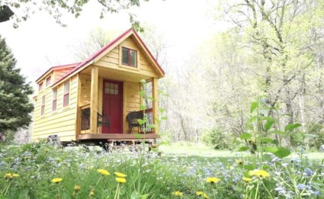 Young Man Building Mortgage Free Tiny House He Started At