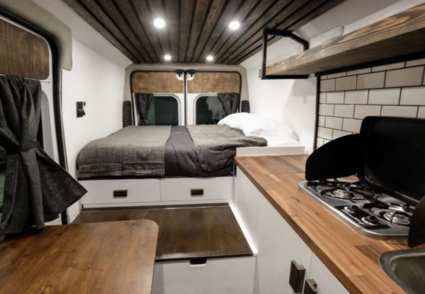 vans kitchen drawer organization ideas the biggie dodge ram promaster van conversion by native ...