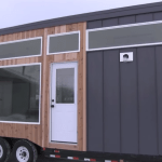 Open Concept Modern Tiny House with Elevator Bed 4