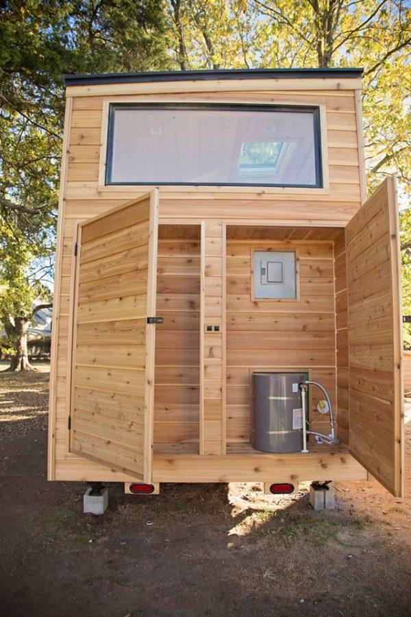 The Peponi Rustic Cedar Tiny House on Wheels