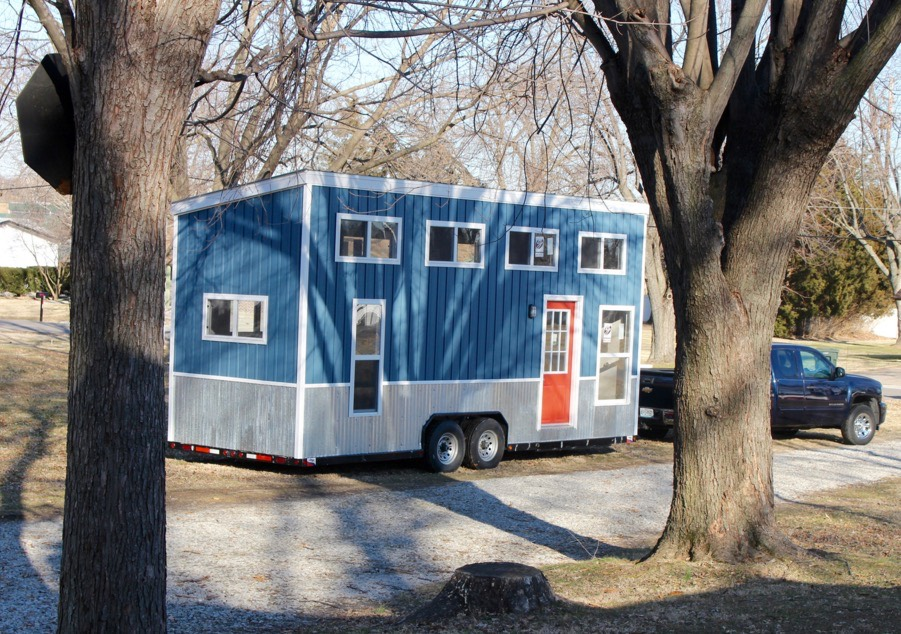 Relax Shack Red Tiny House on Wheels by Mini Mansions For Sale