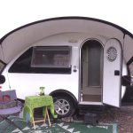 Retired Woman Living Nomadic in TAB Teardrop Trailer with Jeep 001
