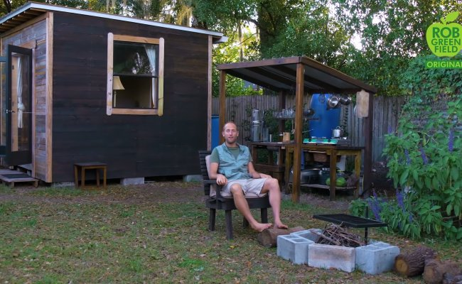 He Built A Tiny House For 1 5k And Grows His Own Food Too