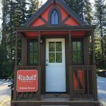 Rudolph at the Leavenworth Tiny House Village, WA. 2